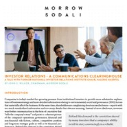 INVESTOR RELATIONS - A communications Clearinghouse