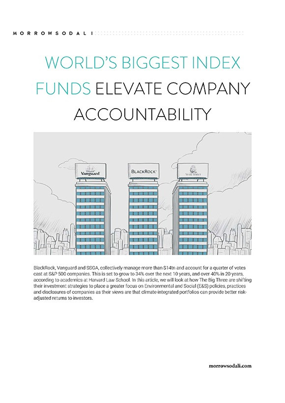 WORLD'S BIGGEST INDEX FUNDS ELEVATE COMPANY ACCOUNTABILITY